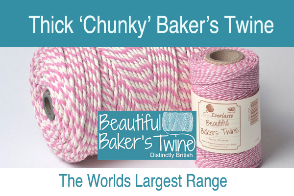 thick coloured cotton  twines  the chunky bakers twine from james lever