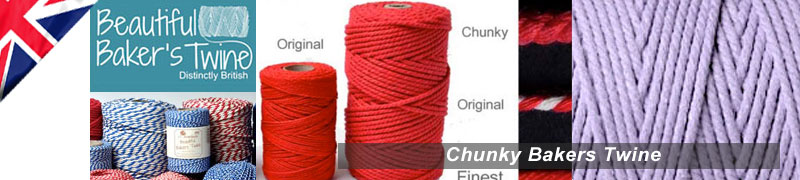 Thick bakers twine a chunky bakers twine for sale in various colour combinations and bakers twine types