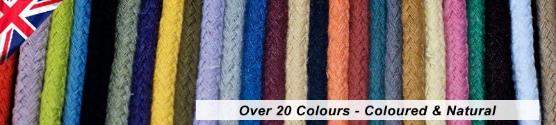 details of the colours available in the hollow braid cotton ropes manufactured in the uk by james lever everlasto