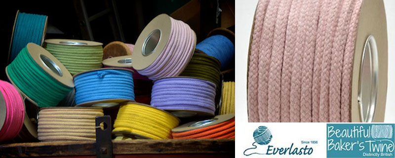 scoloured cotton braids ropes manufactured in soft cotton with hollow or solid colour in other 30 colours