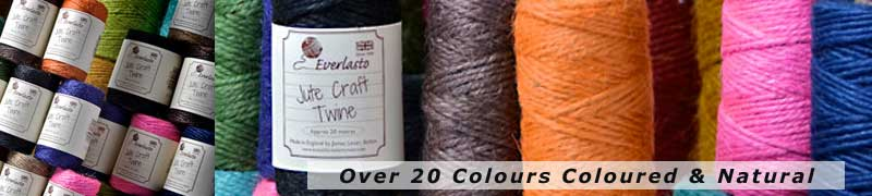 natural twines in Jute in over 20 colours and natural perfect crafting twine for those craft projects