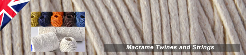 Macrame twines and strings quality cotton perfect for macrame and craft projects various sizes and types