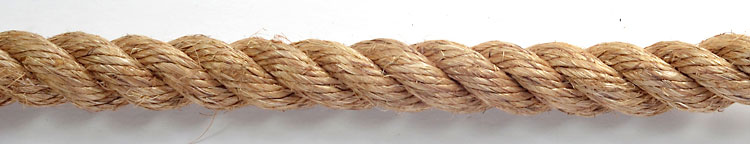Manila rope a traditional natural ropes manufactured in three strand tradionaly used on ships sold in natural tan colour
