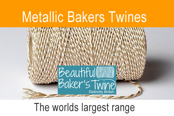 shimmering cotton twines the entire  metallic baker twine range avaiable for online shopping at craft twinery uk