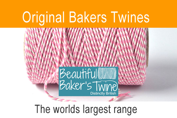 Candy striped bakers twine part of the Beautiful Bakers Twine ranges