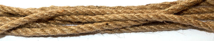 High quality jute ropes in three strand sold by cut length or reel sizes avaiable 5mm to 10mm