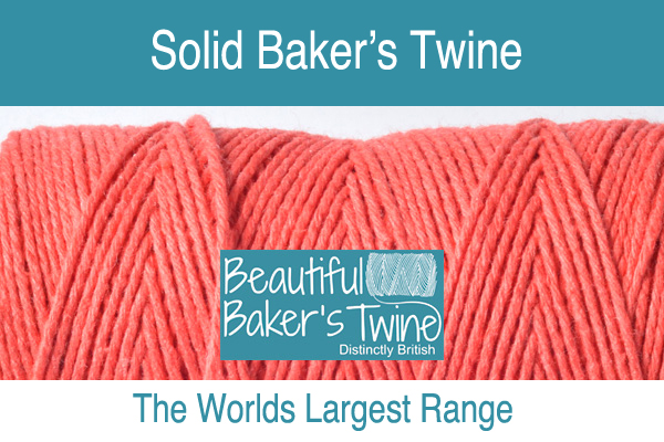 single coloured bakers twine avaiable online