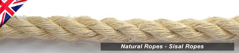 High quality ropes manufactured in natural sisal UK sales of traditional ropes