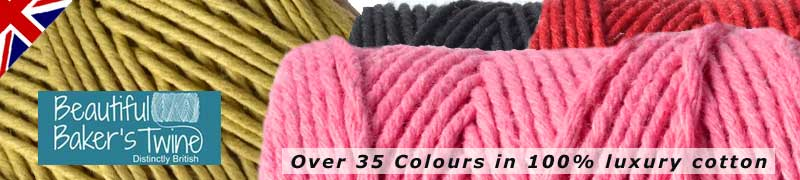 solid cloloured cotton bakers twines for craft projects