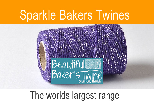 sparkle bakers twine a coloured cotton twine with a sparkle thread added