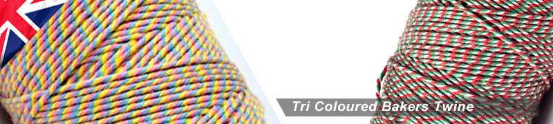 bakers twine in 3 different colours the tri coloured bakers twine is available in various 3 colour combinations