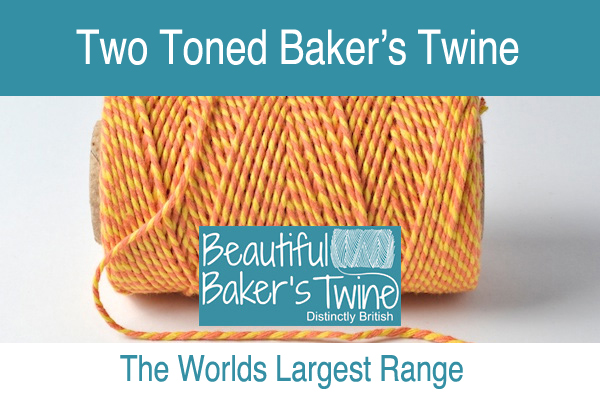 two coloured bakers twine striped bakers twine for sale in over 30 colours