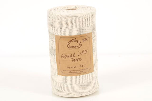 0.5KG EVERLASTO POLISHED COTTON TWINE 103s (0.75MM) SPOOL