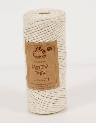 1KG SPOOL EVERLASTO NATURAL COTTON MACRAME TWINE 27/3 (4MM)