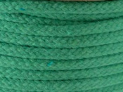 brights green coloured rope Emerald a soft cotton magicians rope in a hollow braid