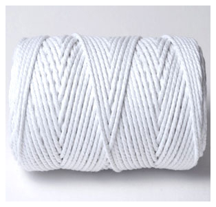 CHUNKY BAKERS TWINE SOLID - SNOW WHITE