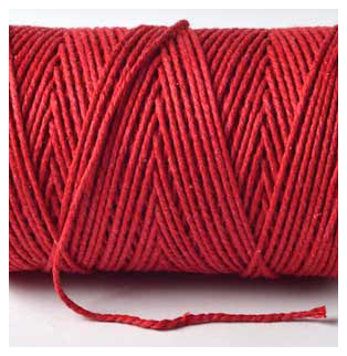 SOLID BAKERS TWINE - BEEFEATER RED