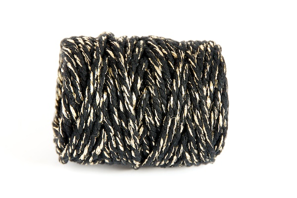 CHUNKY BAKERS TWINE - BLACK GOLD SPARKLE