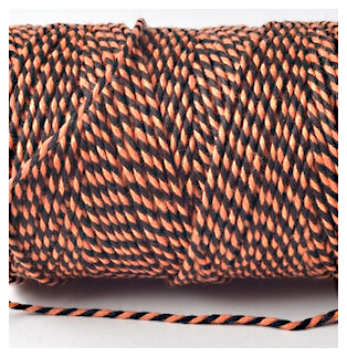 Bakers Twine - BLACK AND ORANGE
