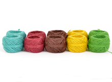 EVERLASTO COLOURED JUTE CRAFT TWINE 50G BALLS ASSORTED 10 PACK