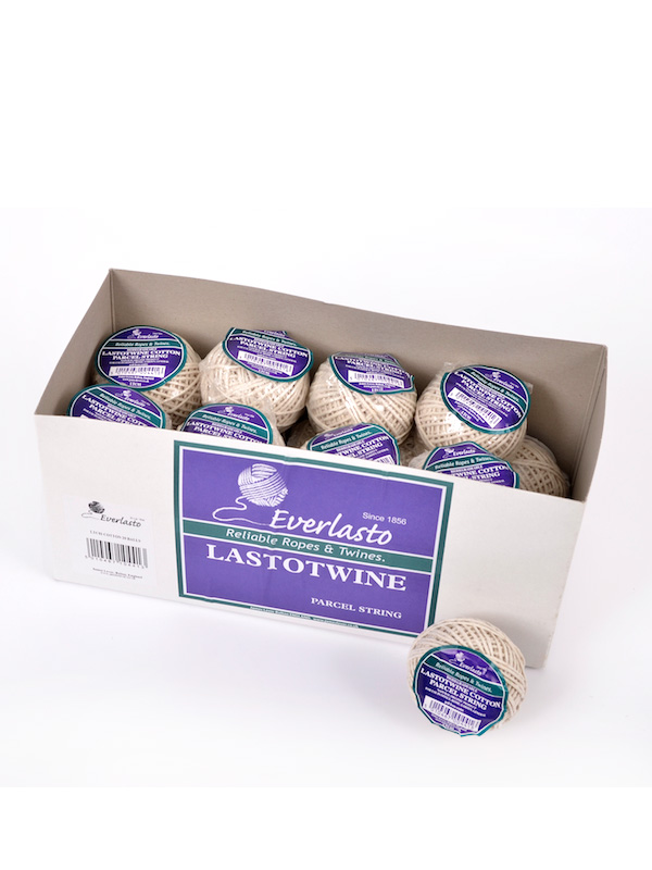 25G BALLS 20 PACK EVERLASTO LASTOTWINE NO.6 COTTON STRING