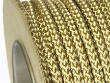 BRAIDED POLYESTER CORD GOLD 6MM x 10M