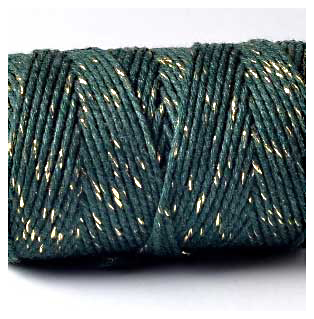 100M Bakers Twine Finest MOSS GREEN SPARKLE