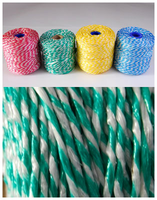 CANDY STRIPE POLYPROPYLENE TWINE 500G SPOOL