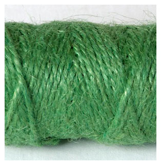 COLOURED JUTE TWINE - LAWN GREEN
