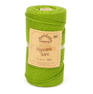 EVERLASTO 0.5/1KG SPOOL 38/6 (4MM) LIME MACRAME TWINE