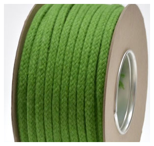 LIME COLOURED COTTON MAGICIANS ROPE 6MM DIAMETER