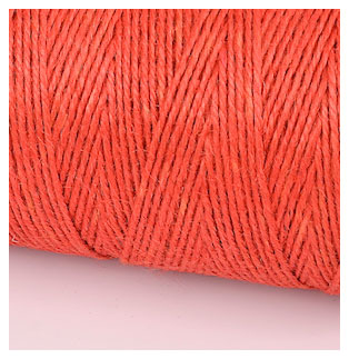 COLOURED JUTE TWINE - TOMATO RED