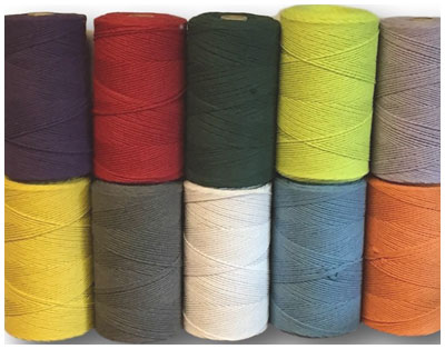 Coloured STRING 0.5KG/1KG SPOOL 15/6 (2MM)