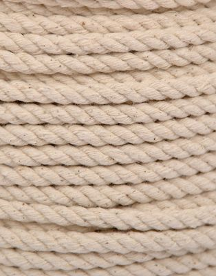 6MM EVERLASTO NATURAL TWISTED COTTON ROPE 50M