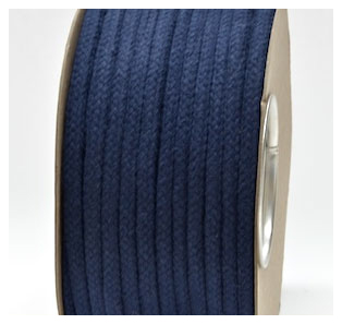 NAVY COLOURED COTTON MAGICIANS ROPE 10MM DIAMETER