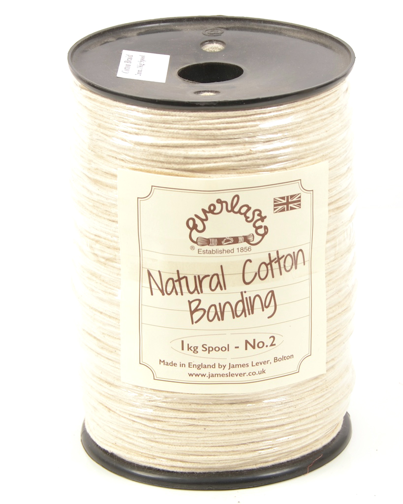 NO.2 (2MM) EVERLASTO NATURAL COTTON TUBULAR BANDING CORD 500G SPOOL