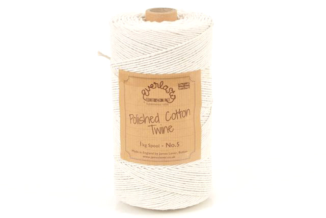 1KG EVERLASTO POLISHED COTTON TWINE NO.6 (1.5MM) SPOOL