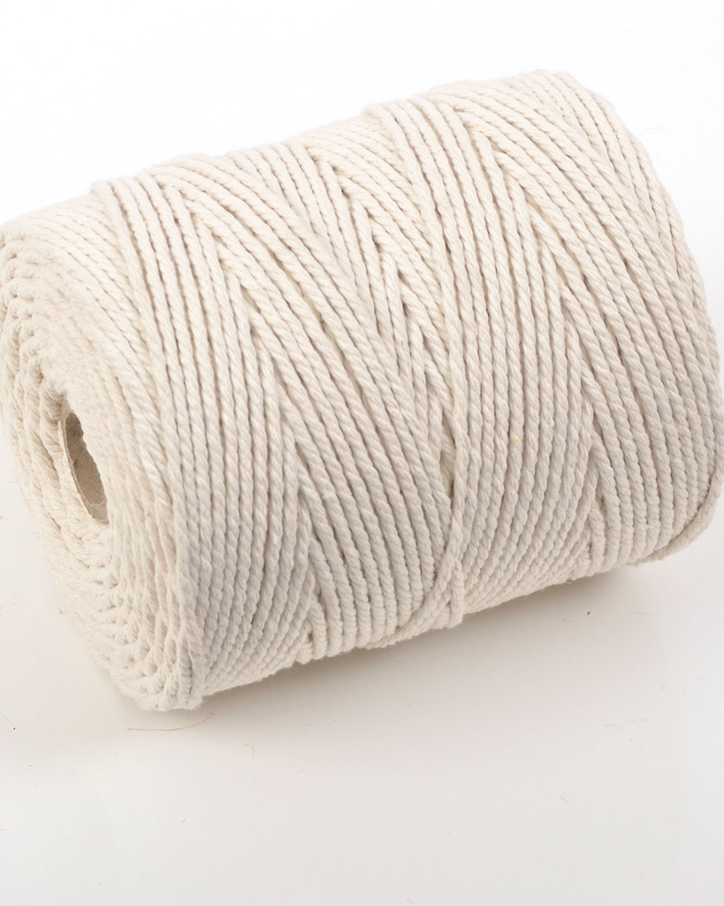 NO.6 EVERLASTO (6MM) NATURAL COTTON PIPING CORD 1KG SPOOL