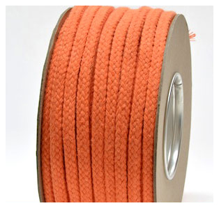 ORANGE COTTON MAGICIANS ROPE 6MM DIAMETER
