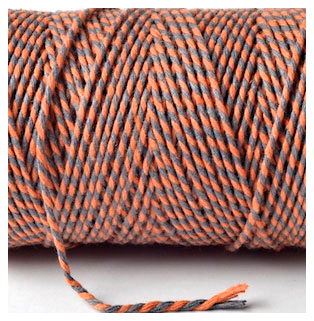 Bakers Twine - ORANGE AND SLATE