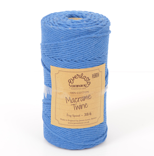 EVERLASTO 0.5/1KG SPOOL 38/6 (4MM) OXFORD BLUE MACRAME TWINE