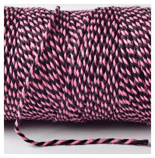 Bakers Twine - PINK AND BLACK