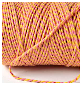 Bakers Twine - PINK AND YELLOW (Mothers Day)
