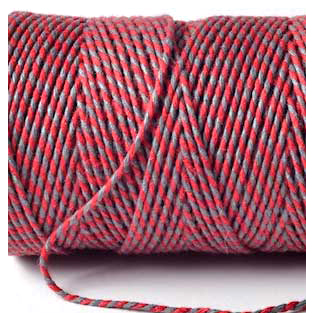 Bakers Twine - RED AND SLATE