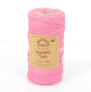 EVERLASTO 0.5/1KG SPOOL 38/6 (4MM) ROSE PINK MACRAME TWINE