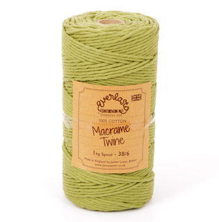 EVERLASTO 0.5/1KG SPOOL 38/6 (4MM) SAGE GREEN MACRAME TWINE