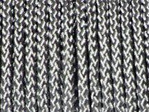 BRAIDED POLYESTER CORD SILVER 6MM x 10M