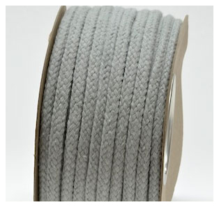 SILVER COLOURED COTTON MAGICIANS ROPE 6MM DIAMETER