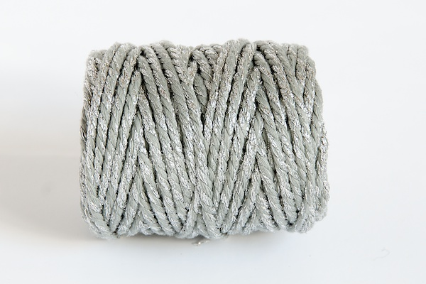 CHUNKY BAKERS TWINE - SILVER SPARKLE