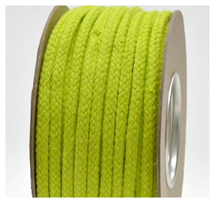SPRING GREEN COLOURED COTTON MAGICIANS ROPE 10MM DIAMETER
